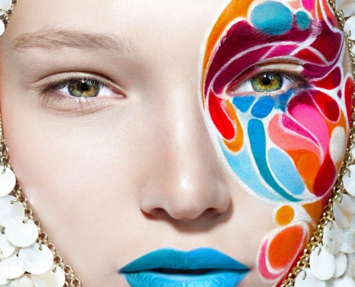 airbrush make up bunt colored